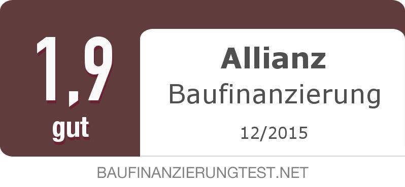 Testsiegel: Allianz Baufinanzierung width=