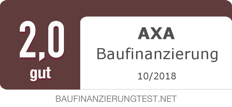Testsiegel: AXA Baufinanzierung width=