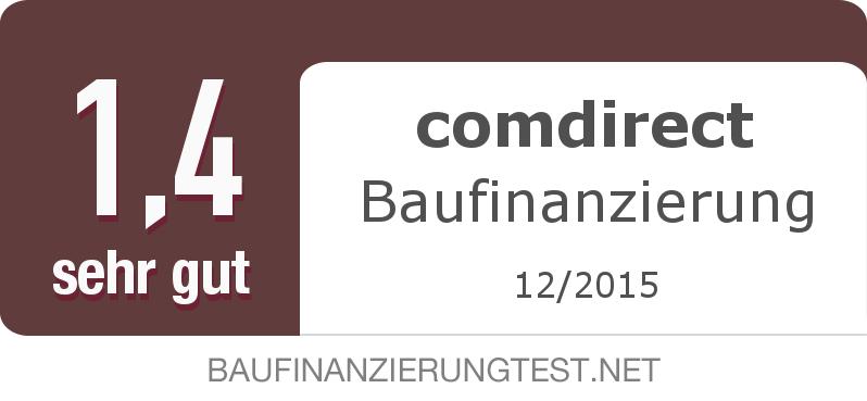 Testsiegel: comdirect Baufinanzierung width=