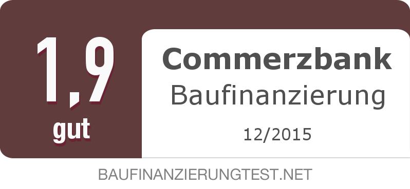 Testsiegel: Commerzbank Baufinanzierung width=