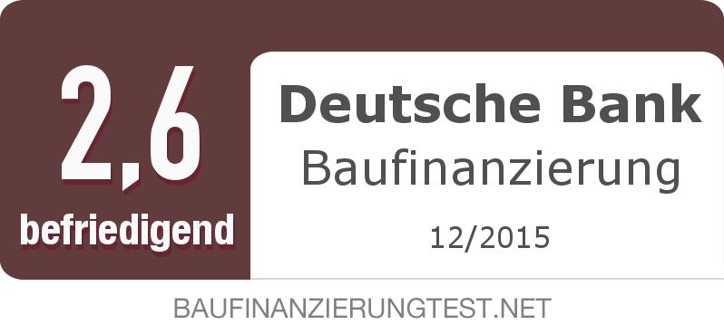 Testsiegel: Deutsche Bank Baufinanzierung width=