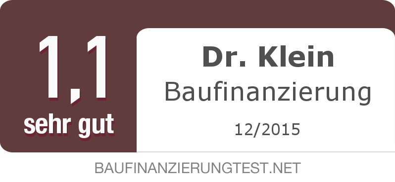 Testsiegel: Dr. Klein Baufinanzierung width=