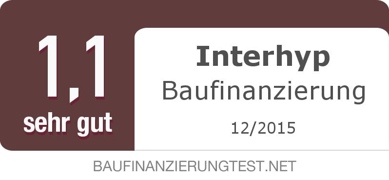 Testsiegel: Interhyp Baufinanzierung width=