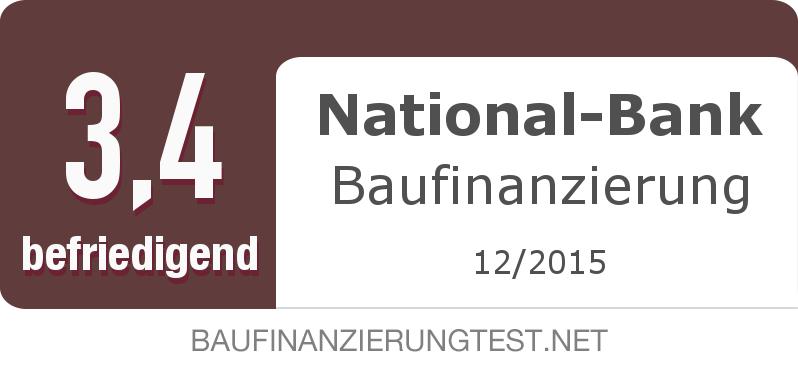 Testsiegel: National-Bank Baufinanzierung width=