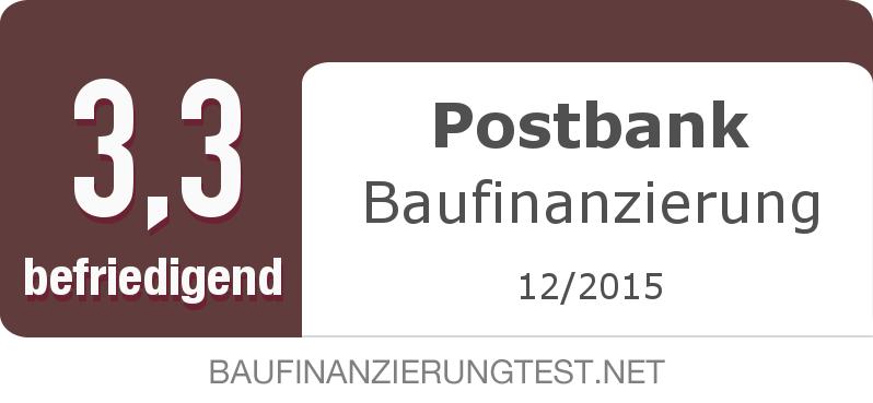 Testsiegel: Postbank Baufinanzierung width=
