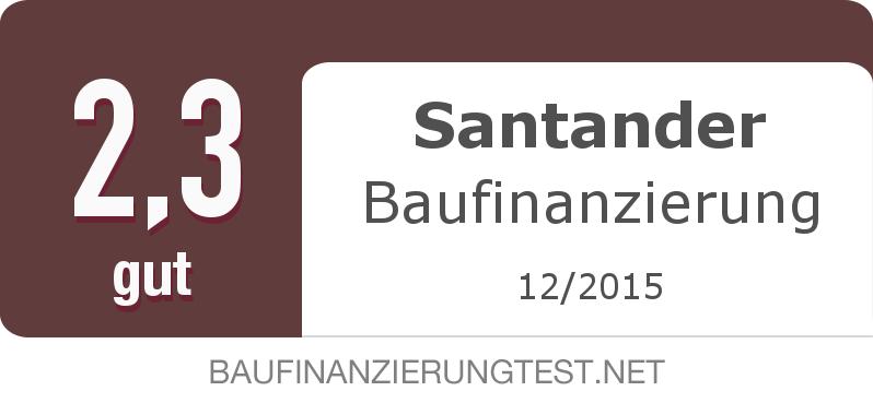 Testsiegel: Santander Baufinanzierung width=
