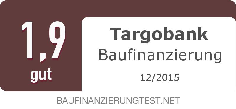 Testsiegel: Targobank Baufinanzierung width=