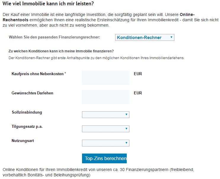 Rechner der HypoVereinsbank